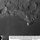 Promontoire Laplace cratères Bianchini et Maupertuis 070815 Newton 625mm barlow 3 filtre IR610 Luc CATHALA,                                CATHALA Luc