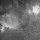 Orion's sword @ Ha (2 frames mosaic),                                Pleiades Astropho...