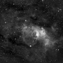 NGC 7635, the Bubble Nebula, Ha,                                Stephen Garretson