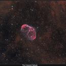 NGC6888 The Crescent Nebula in Bi-color Ha+OIII,                                Serge Caballero