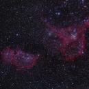 The Heart Nebula and Soul Nebula,                                Tyler Millhouse