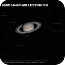 Saturn and its moons with a star,                                sstiger1_007