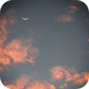 Moon and Venus in the clouds,                                Chris Ryan