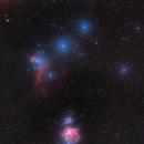 Orion wide field through the mist,                                Nic Doebelin