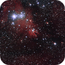 Cone Nebula - The Christmas Tree Cluster (NGC 2264) Hubble's Variable Nebula (NGC 2261),                                Csere Mihaly