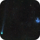 Comet Lovejoy and Pleiades open cluster,                                Bach hamba Youssef