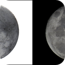 Lune 1204 - 97,4% - 16,3j - 18°27 - mag -12,31- 362 088 km,                                Ariel