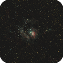 Messier 8 - Lagoon Nebula (unguided mount, unmoded camera),                                Csere Mihaly