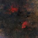 Widefield NGC6357 and 6334 in Scorpio,                                Alberto Pisabarro