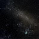 PGC 17223 (Grand Nuage de Magellan / Large Magellanic Cloud) and NGC 2070  (Nébuleuse de la Tarentule / Great Looped Nebula),                                Harold Freckhaus