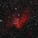 Sh2-142 - NGC 7380 - The Wizard Nebula in HαGB,                                Uwe Deutermann