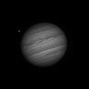 Jupiter - 90 minute timelapse with Ganymede transit - 2018May28,                                Frederick Steiling