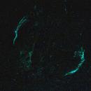 Veil nebula with Oiii filter / Canon 800D & 200mm fix lens,                                KiwiAstro