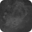 Gif animation zooming in on the Gum Nebula to a close up of HH46-47,                                Freestar8n