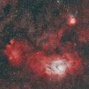 Lagoon Nebula (Mouse Over: with analog camera (2001, Alps-Italy)),                                gigiastro