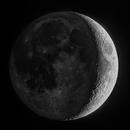 Earthsine on a Waxing Crescent Moon,                                Guillermo Gonzalez