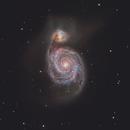 M51 - The Whirlpool Galaxy (alt edit),                                Chad Leader