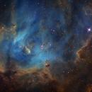 Running Chicken in Hubble palette,                                Diego Gravinese
