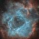 Rosette NGC2239 HOO with color camera,                                Jocelyn Podmilsak