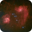 ic410 and Flaming Star Nebulae,                                Chris Heapy