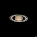 Saturne et les lunes Dioné, Téthys et Rhéa,                                BLANCHARD Jordan