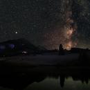 Milkyway and Mars above Moorsee, Allgäu,                                Rudolf Bumm