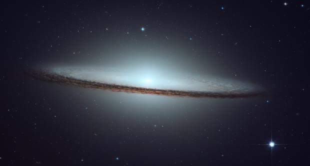 Hubble Data Processing: NGC 4594 (M104, Sombrero Galaxy),                                  Min Xie
