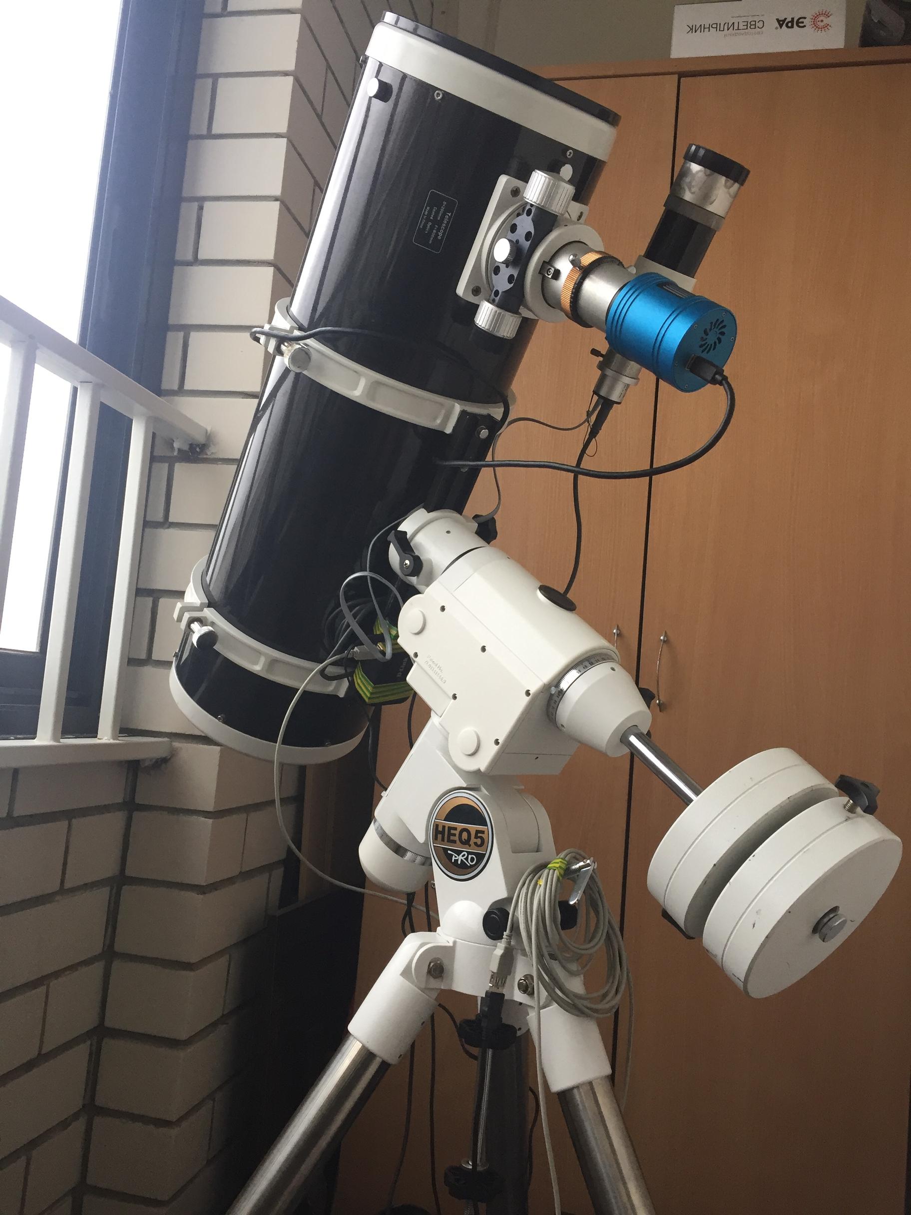 My telescope is in town) 200/F4 heq5pro.,                                Sergei