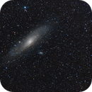 M31 with 200mm Lens in HLRGB,                                Josh Woodward