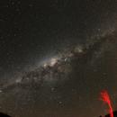 Vía Láctea y árbol,                                Angel Requena
