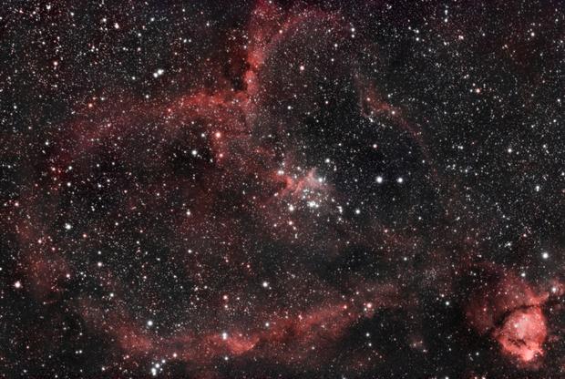 Heart Nebula (IC 1805),                                Linda