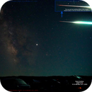 Very Bright Tumbling Meteor streaking through South facing Milky Way Shot,                                Rashi