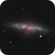 Messier 82 - Cigar Galaxy   (hi-res photo),                                Łukasz Sujka