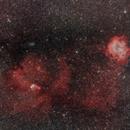 rosette, cone, and fox fur nebula, plus christmas tree cluster,                                pfile