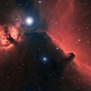 Horsehead and Flame Nebulae in HaRGB,                                Ikonnikov