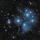 "M45 - Pléiades + astéroïde ""118 Peitho"",                                jpettit"