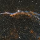 Veil Nebula in Bi-Color (Ha + OIII),                                Norman Tajudin