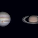 Planet Parade Sept. 14, 2020 - Mars, Jupiter & Saturn,                                Mat