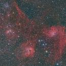 IC405 and IC410,                                Yuichi Kawamoto