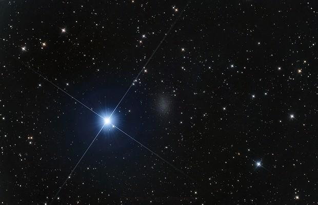 Leo I dwarf galaxy & Regulus,                                Johannes Bock
