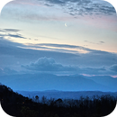 Moonrise over the Great Smoky Mountains #2,                                JDJ