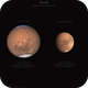 Mars, apparent size comparison,                                Massimiliano Vesc...
