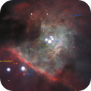 M 42 - trapeze, proplyds and Herbig-Haro objects,                                Lars Stephan