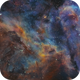 Crop of Eta Carina Nebula (Space Pelican?),                                Ben