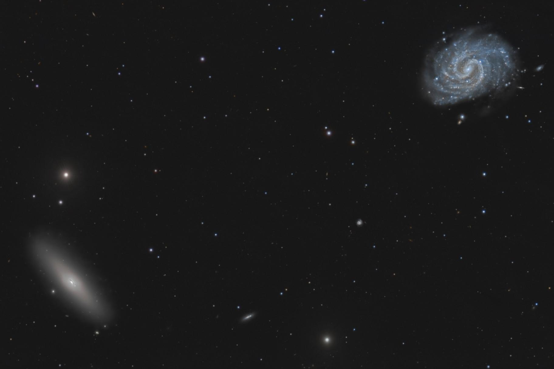 NGC4535 with NGC4526,                                Peter Goodhew