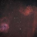 Flaming Star and Tadpoles IC405 IC410,                                tomekfsx