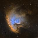 Pacman Nebula - NGC281 (SHO),                                Elvie1