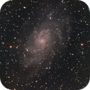 m33 - combination of images taken during 2010 and 104 - total exposure 25 hours and 55 minutes,                                Stefano Ciapetti
