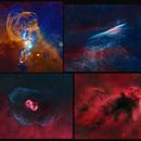 Starless collage - LDN 1622 and NGC 2736 - 3576 - 6165,                                Renan