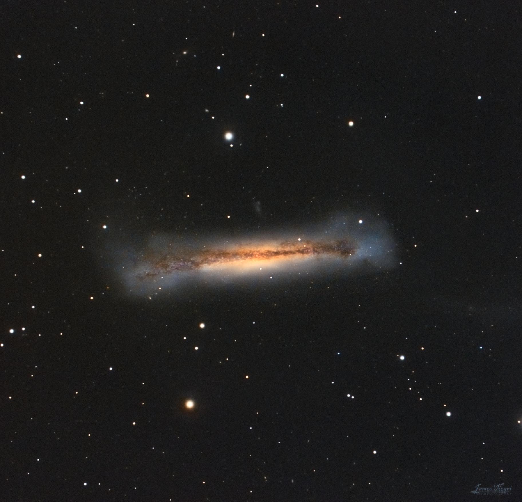 NGC 3628, the Hamburger Galaxy,                                James